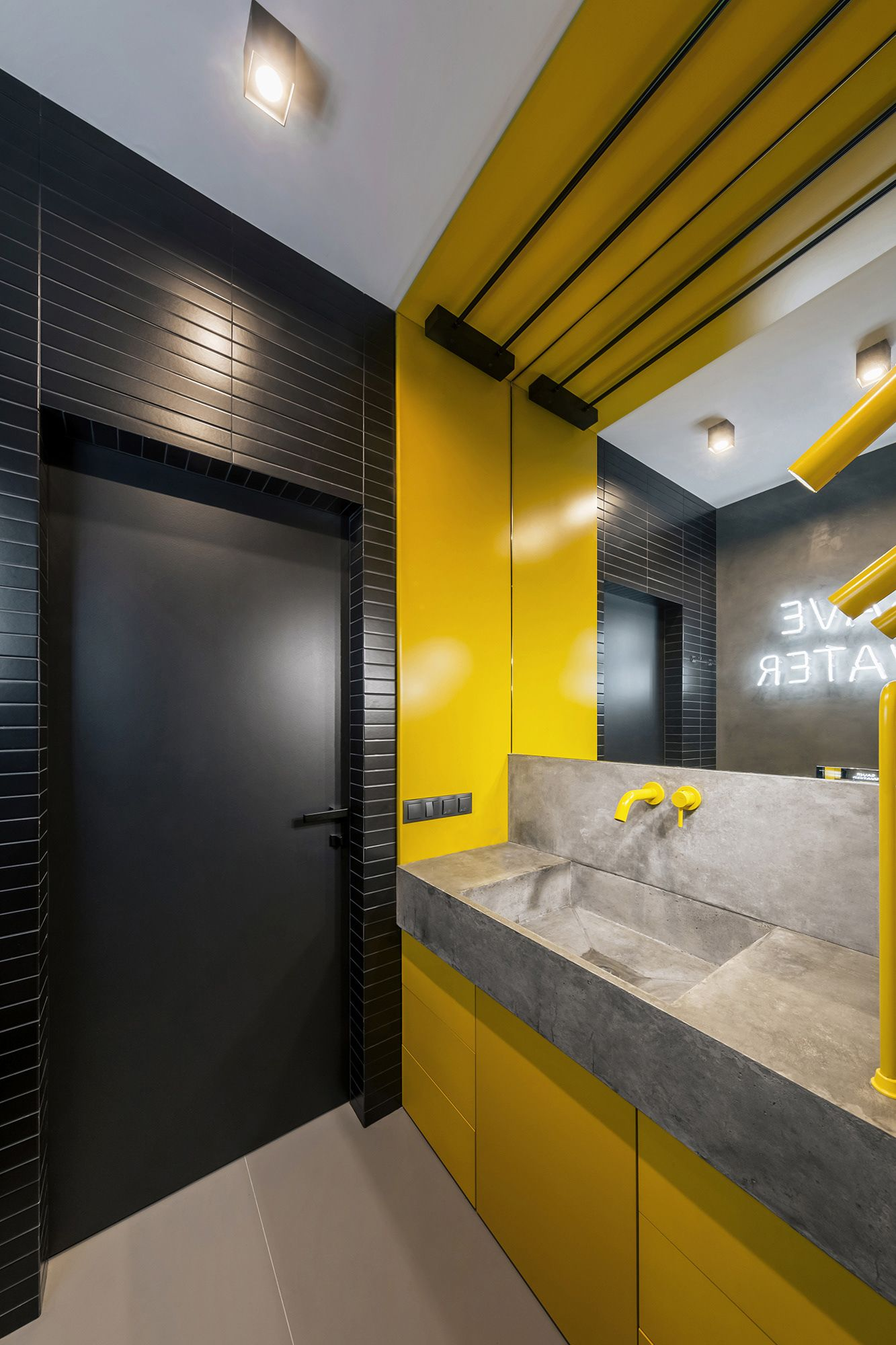 Art apartment on Behance in 2020 | Commercial bathroom ...