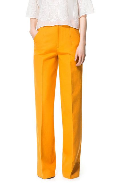 Femme Taille Mode Pantalons Zara France Haute Pantalon fZtqwxUf8