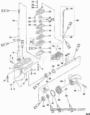 Gear Housing Assembly 3 3 Hp Mercury Outboard Outboard Mercury