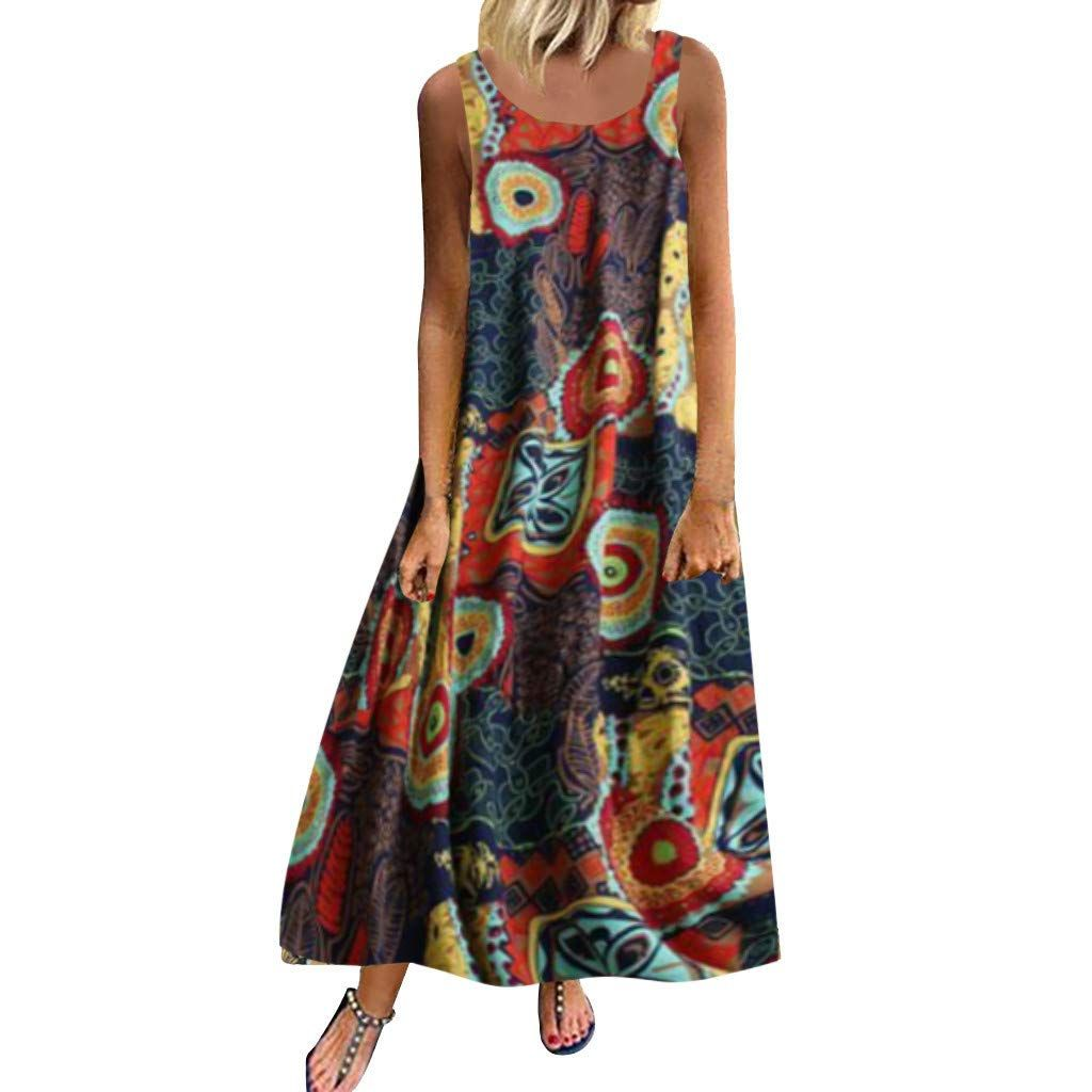 Photo of Dresses Summer Casual Women Plus Size Dress Summer Casual Loose Sleeveless Floral Print Daily Long