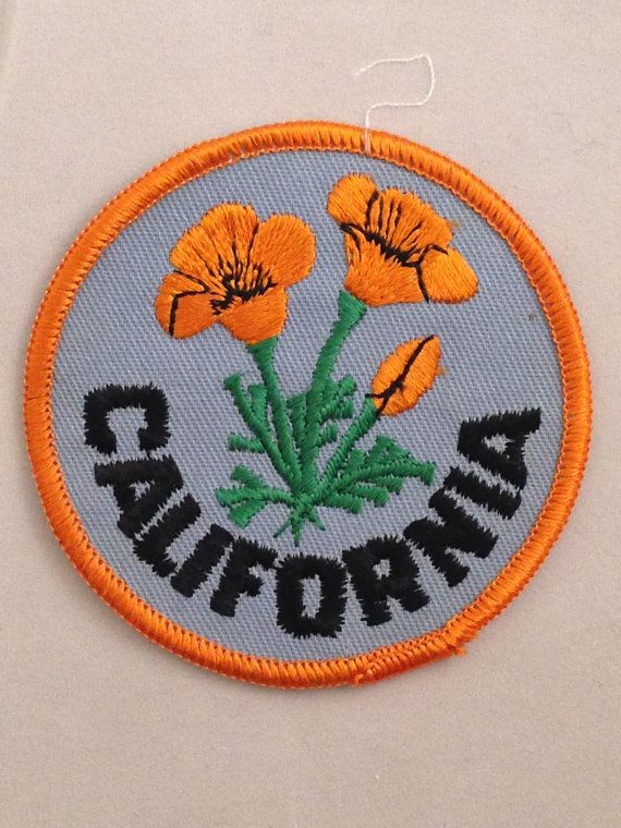 California Embroidered Patch Iron//Sew-On Applique Travel Souvenir Golden State