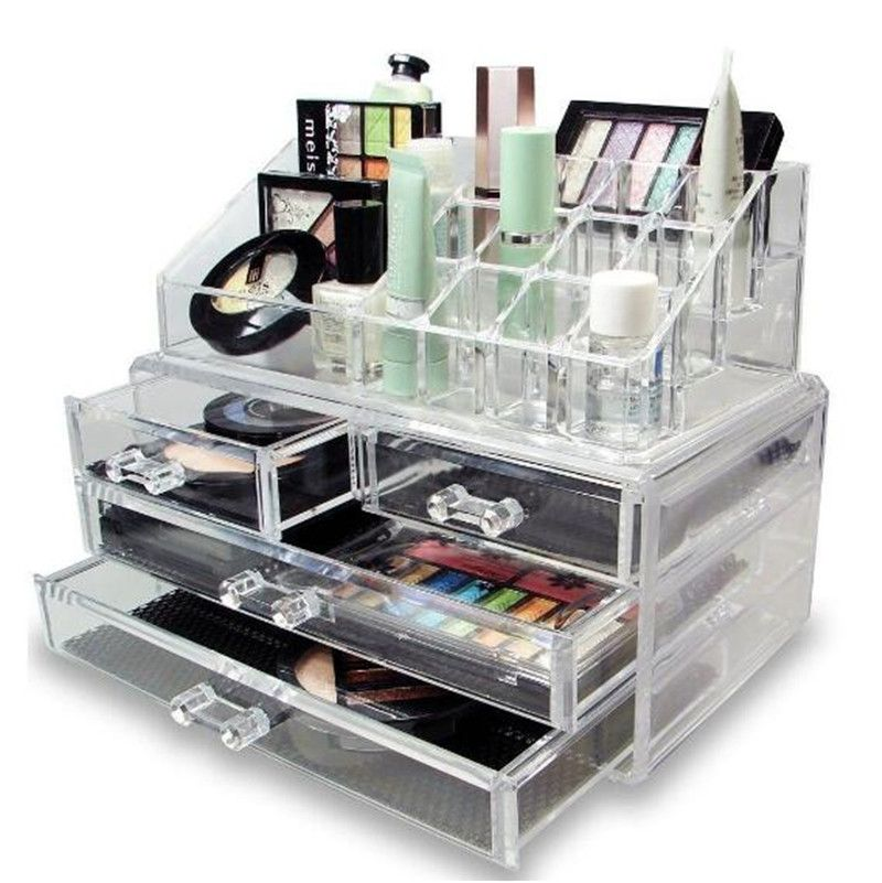 Click to Buy Multifunction Makeup Drawer Organizer Jewelry Box