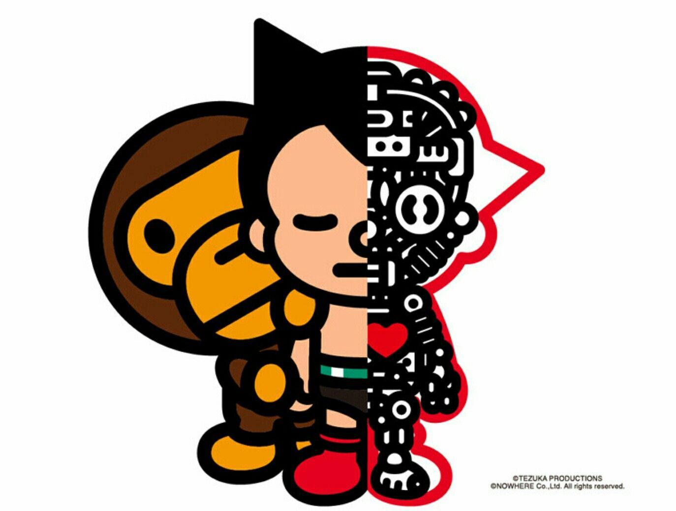 247ad258 Baby milo x Astro Boy | lit art | Astro boy, A bathing ape, Design ...