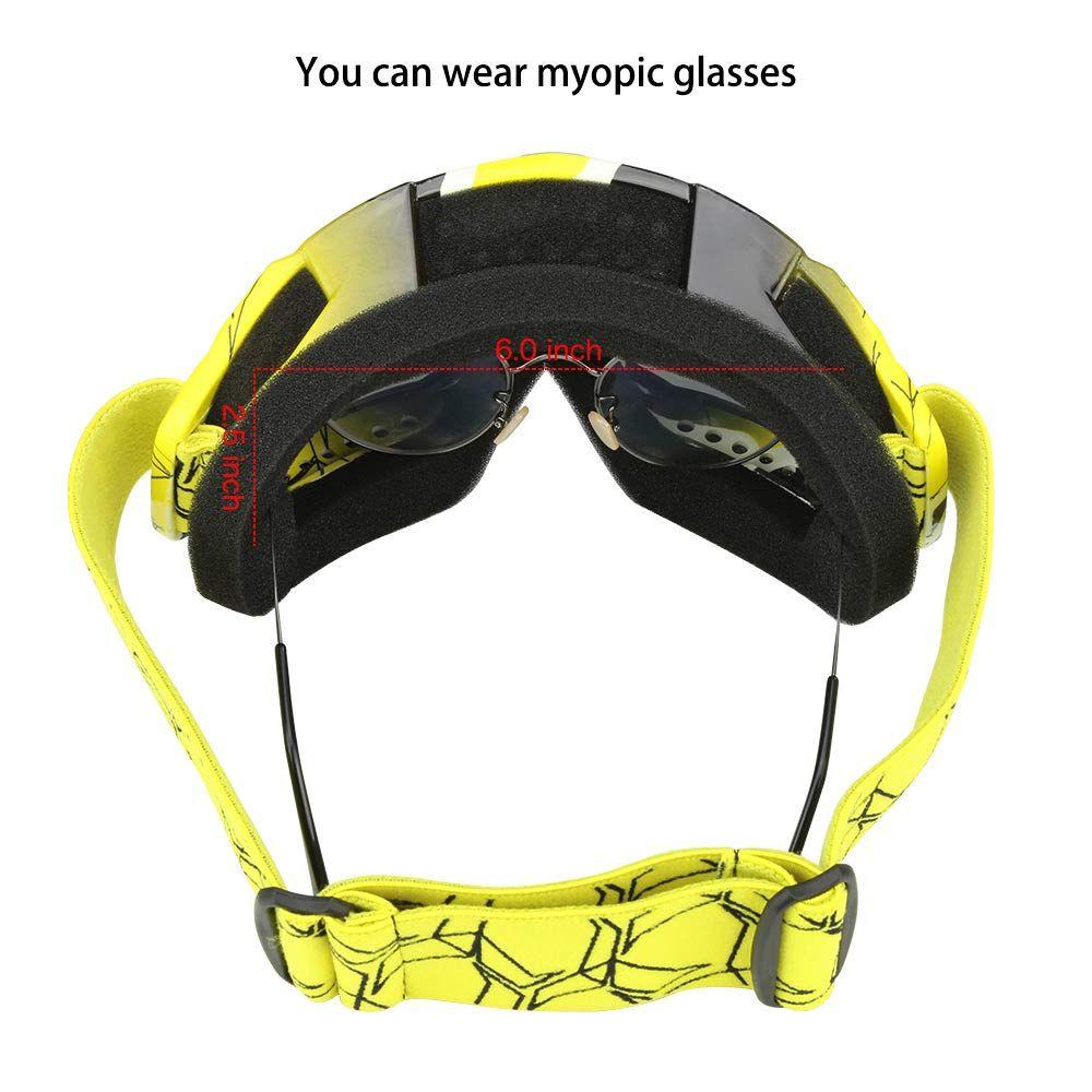 Jamiewin Adult Motorcycle Motocross Goggles Atv Racing Goggles Dirt Bike Mx Goggle Glasses And Ski Snowborading 12 Color Ad Motocross Goggles Dirt Bike Atv