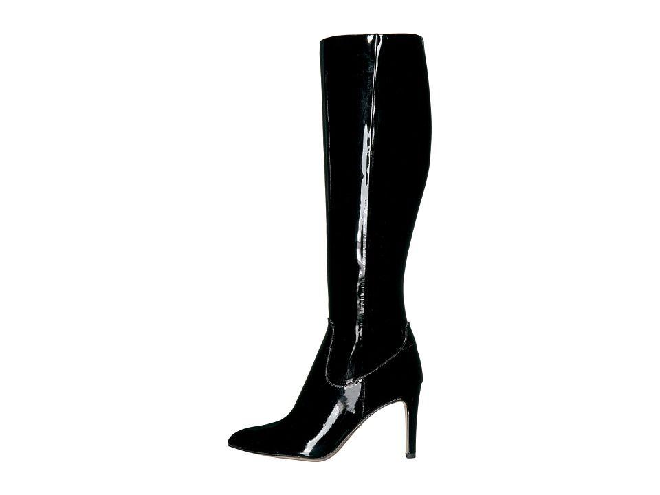 733ab304d6a Sam Edelman Olencia Women s Dress Zip Boots Black Soft Cow Patent Leather
