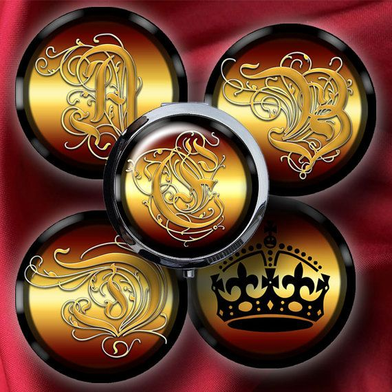 Royal Alphabet  2625 inch Circles for Pocket by CobraGraphics, $3.90