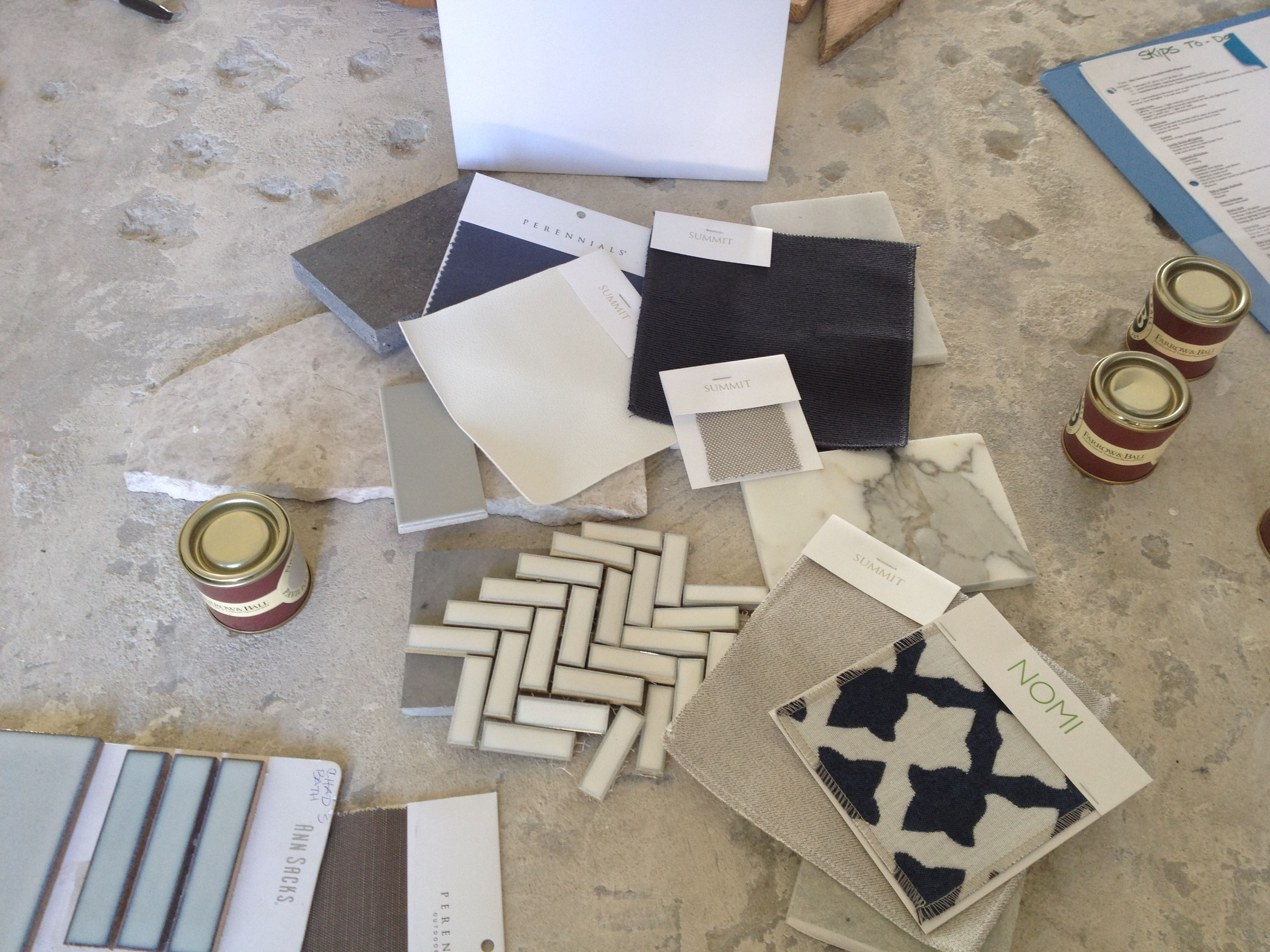 Client Tile And Fabric Samples Kirsten Marie Interior Design Pi