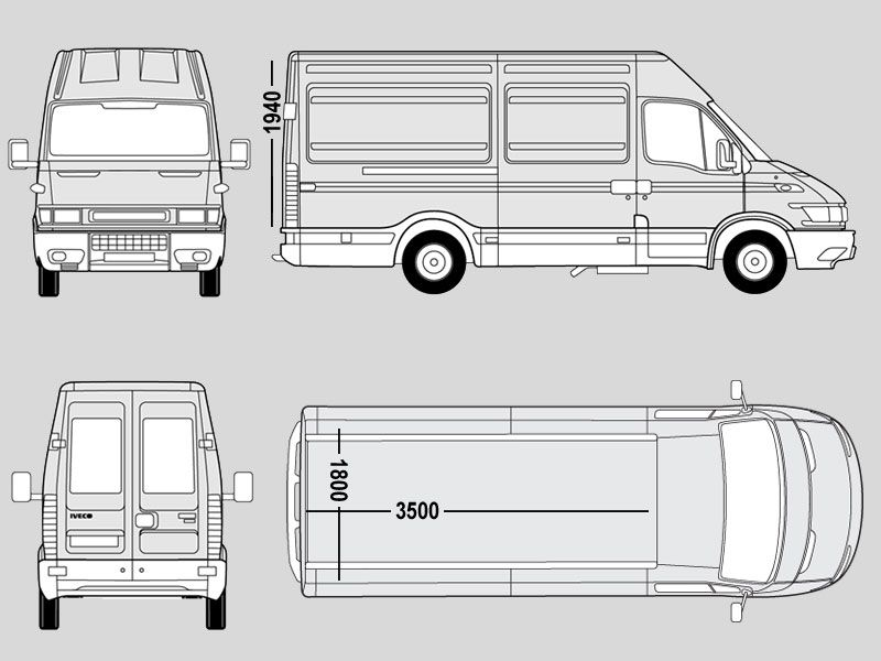 Iveco Daily Mwb Dimensions Google Search With Images Van