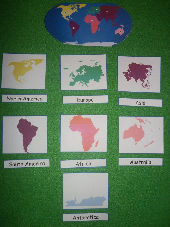 Continents match in felt or laminated geography home school continents match in felt or laminated geography home school educational toy continent gumiabroncs Images