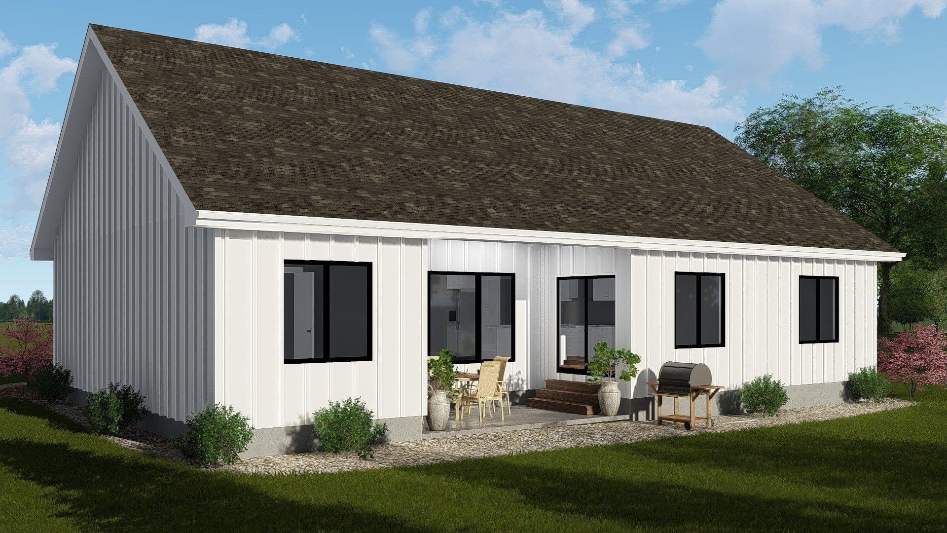 Meadow Grove 1 Story Modern Farmhouse House Plan | Modern ...