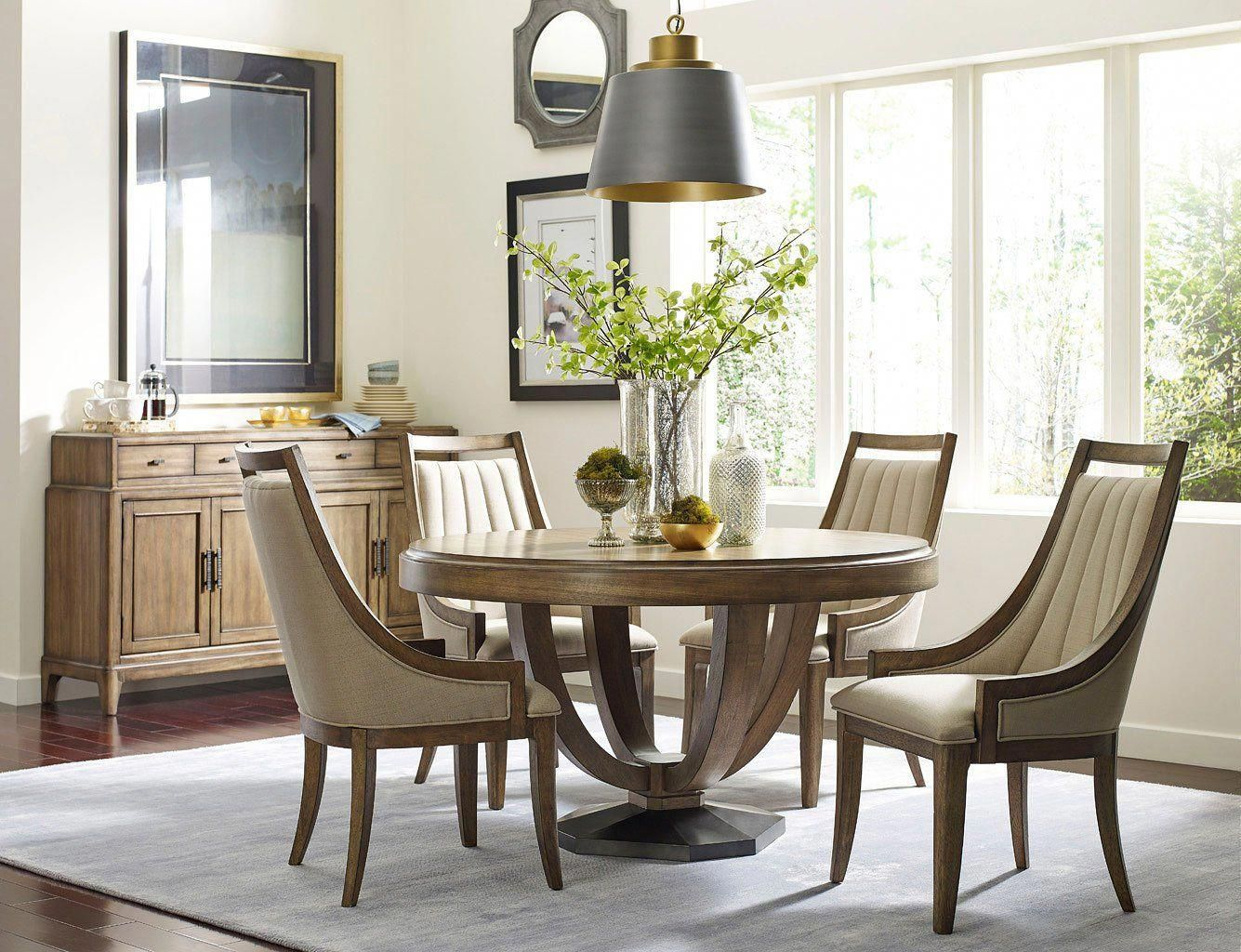 Evoke round dining room set diningroomfurniture furniture