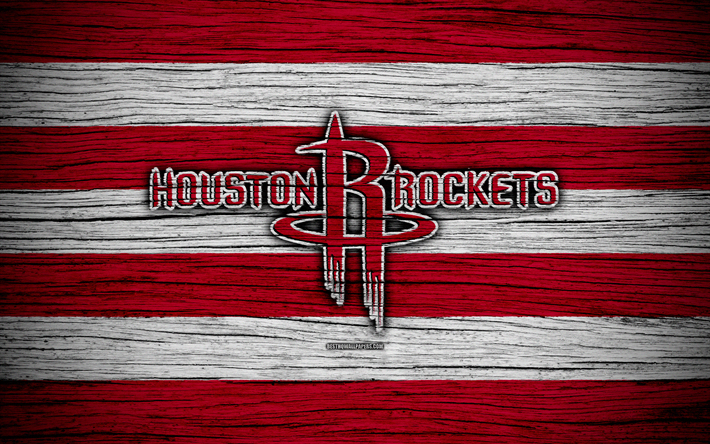 Download wallpapers 4k, Houston Rockets, NBA, wooden
