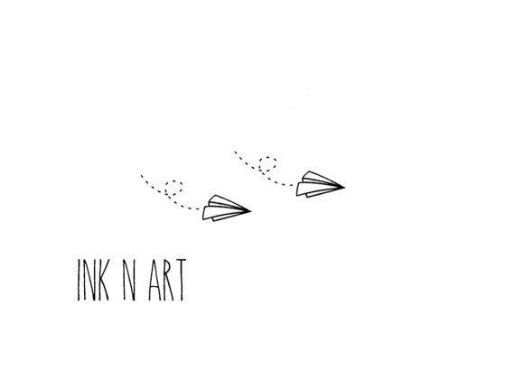 2pcs papier petit avion tatouage temporaire inknart par inknart tatoo pinterest tatouage. Black Bedroom Furniture Sets. Home Design Ideas