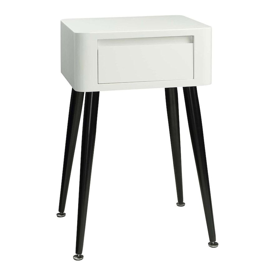 Black and White Tall Legged Side Table