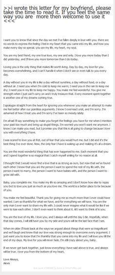 Boyfriend a my letter romantic to Deep love