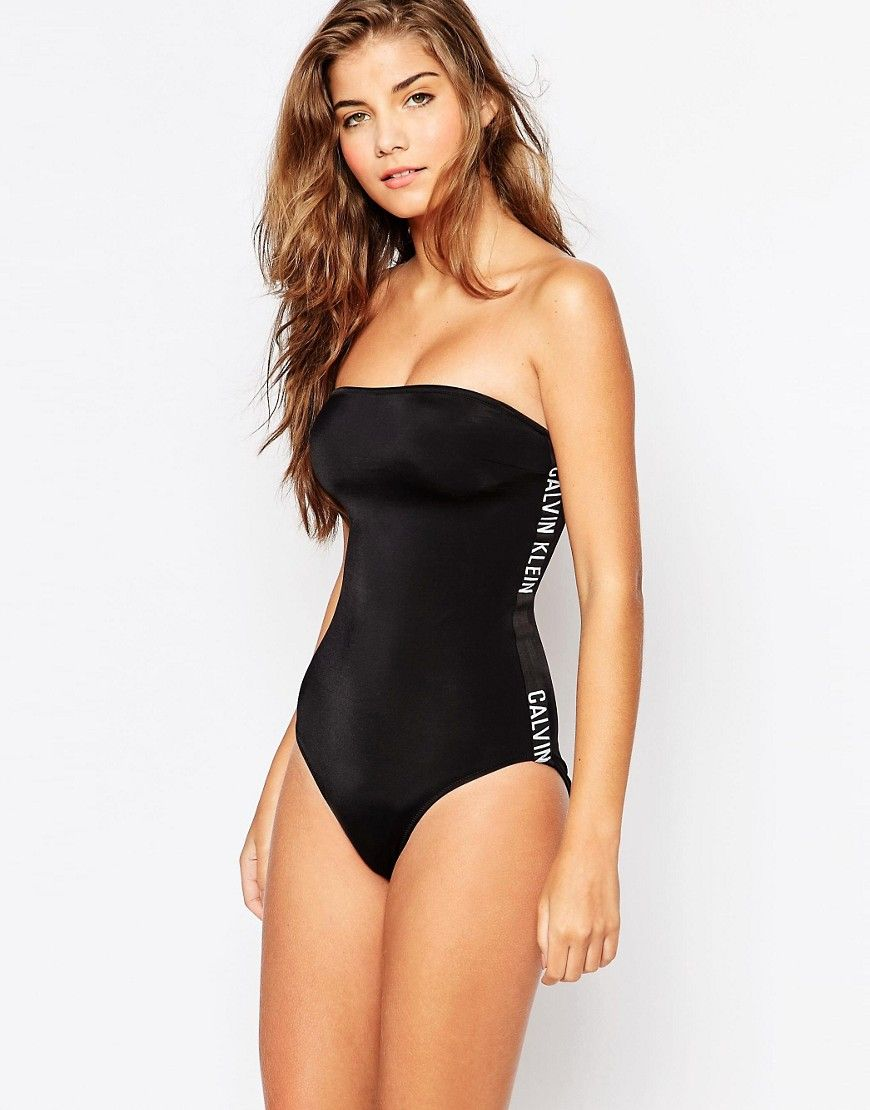 Calvin Klein Intense Power Bandeau Swimsuit Swimsuits Pinterest