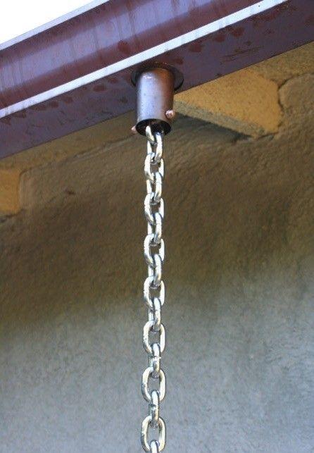 Aluminum 1 8 Link Rain Chain Custom Lengths Available Free Shipping Link Rain Chains Rain Chain Gutters