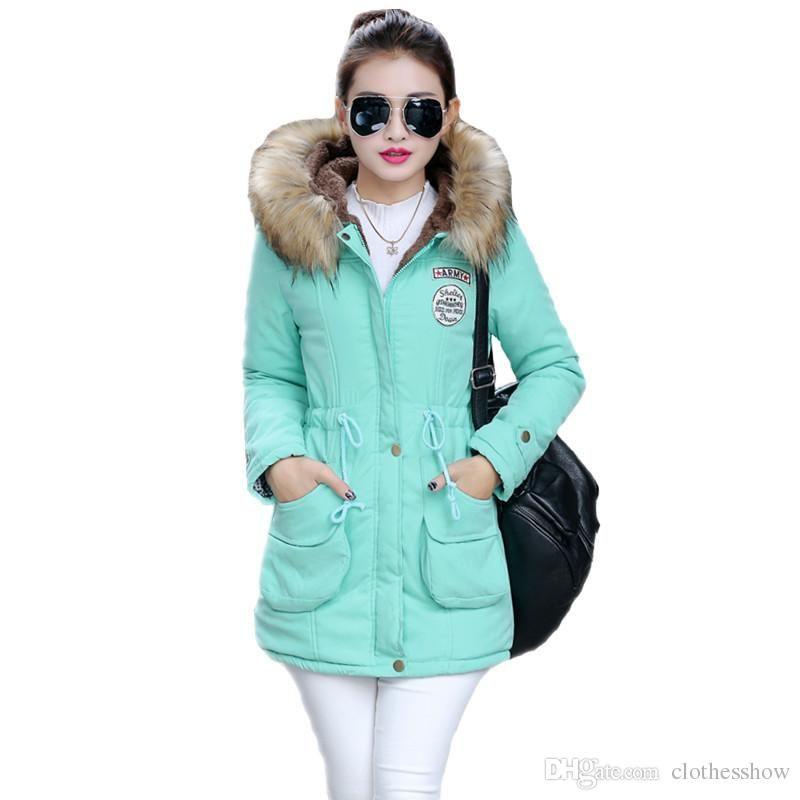 Plus Size Parkas Female Long Womens Fur Coat Winter Jacket