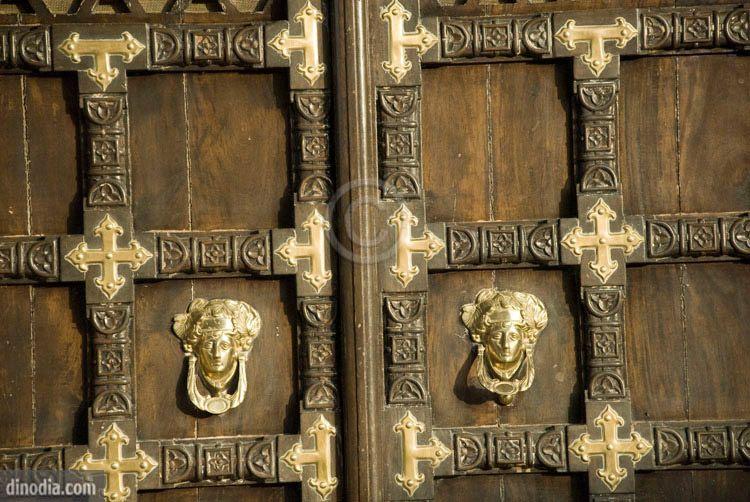 Door of hotel Rajputana palace at Jaisalmer ; Rajasthan ; India