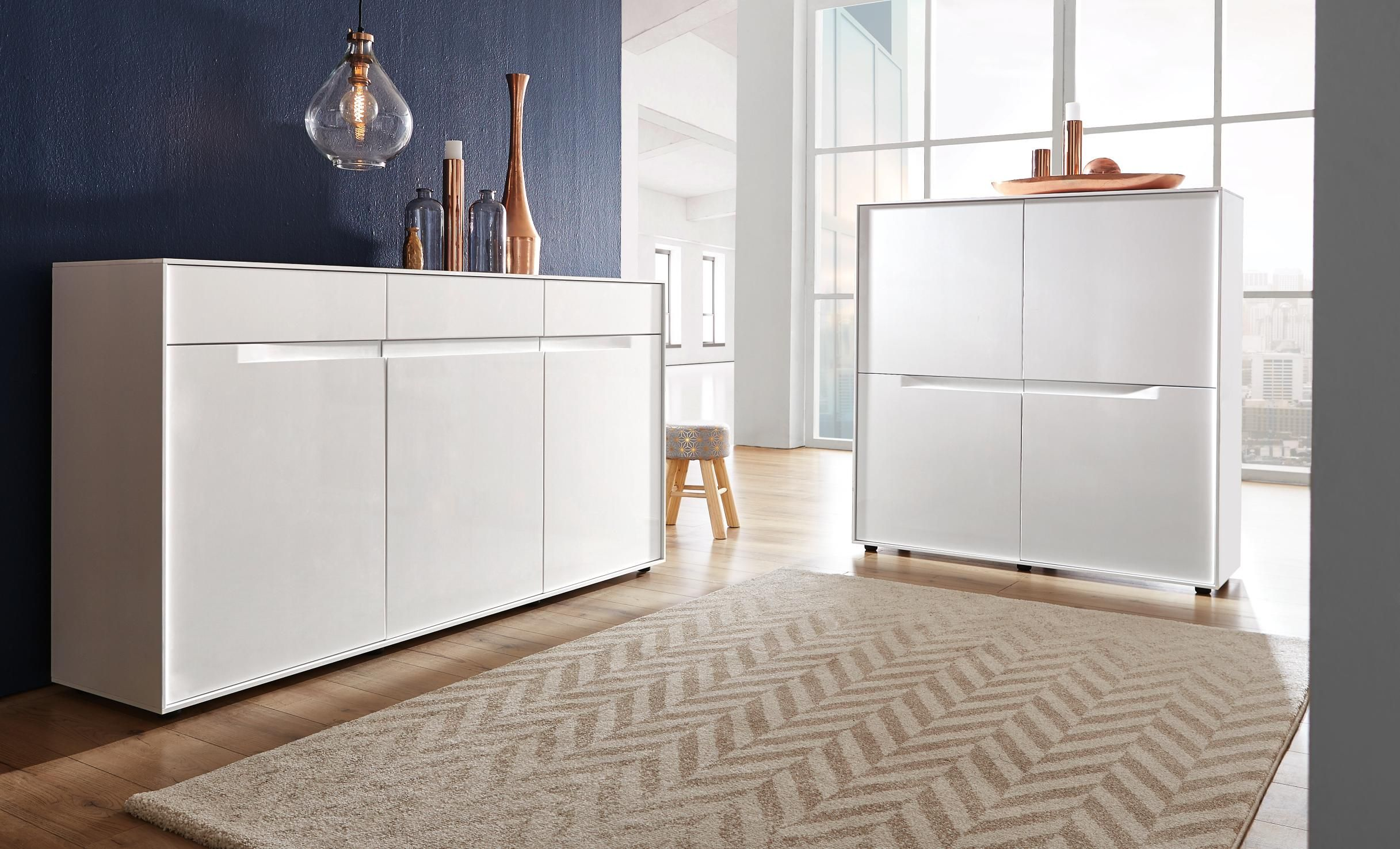 Schlafzimmer Kommode Pinterest Modernes Sideboard In Weiß Mit Intelligentem Soft Close