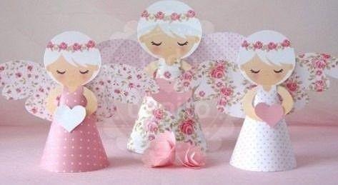 Silhouette anjo 3d angeli anjos eucaristia e artesanato - Artigianato per cristiani ...