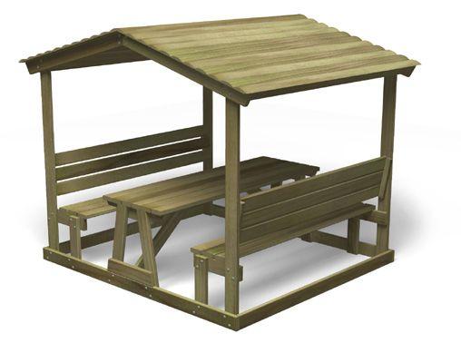 Rowlinson Wooden Pub Style Garden Picnic Table