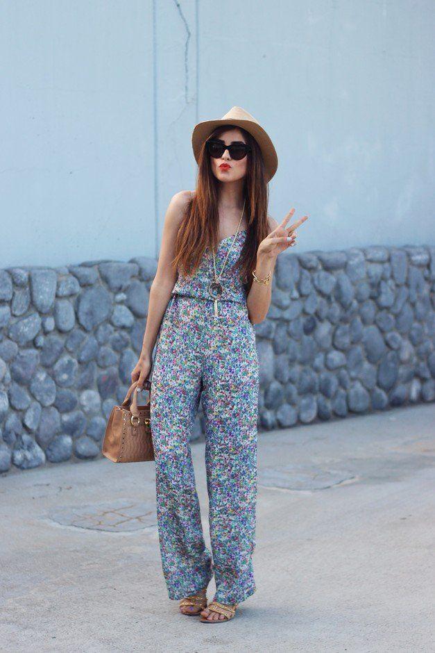 0de5effc684  roressclothes closet ideas  women fashion Floral Jumpsuit Outfit Ideas for  Summer