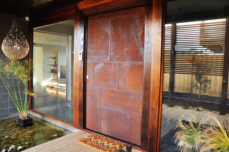 Doors Pinterest Corten Steel Front Doors And Custom Design