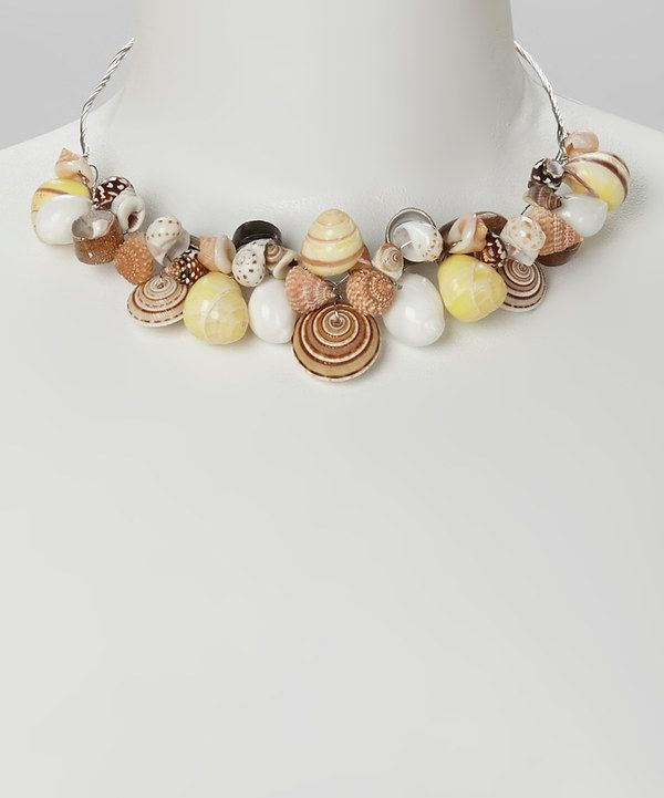 Look at this #zulilyfind! Natural Shell Bib Necklace by LOLO by New Dimensions #zulilyfinds
