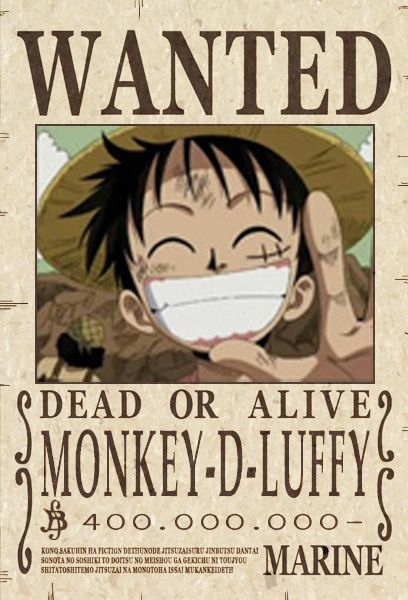 Pin By Jonathan Dion On Moodboard Luffy Wanted Poster One Piece Bounties Wanted Poster Luffy