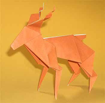 折り紙でトナカイの折り方 2枚で立体的な簡単な作り方 セツの折り紙処 折り紙 おりがみ クリスマス リース クリスマス おりがみ