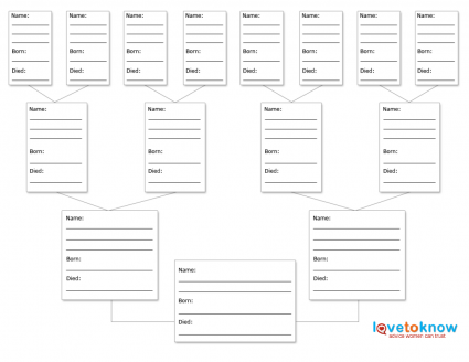 printable family tree form | Blank Family Tree Charts by Unison ...