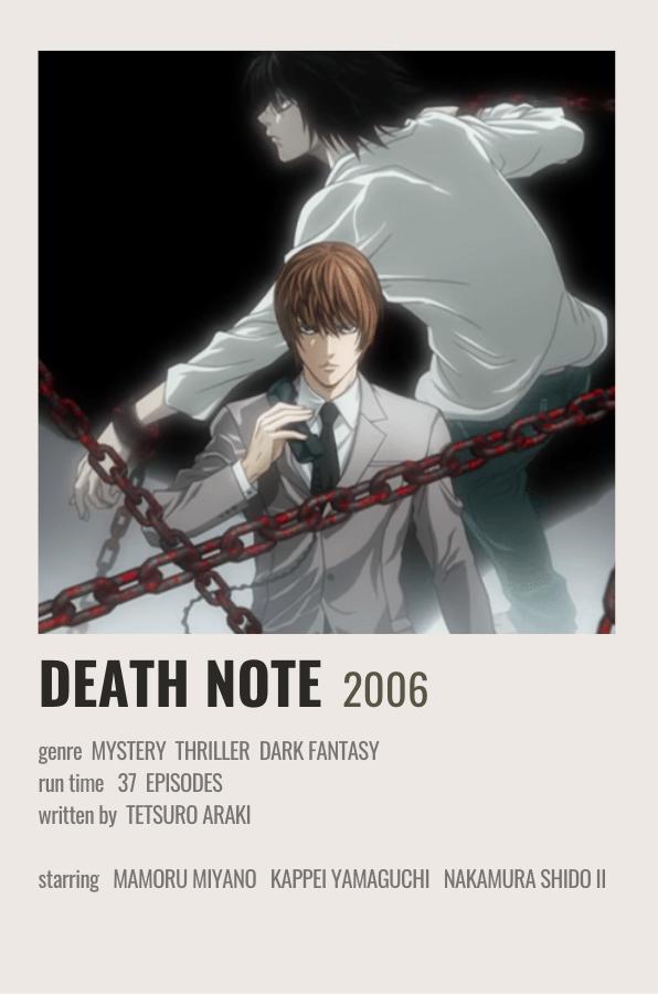 death note movie poster