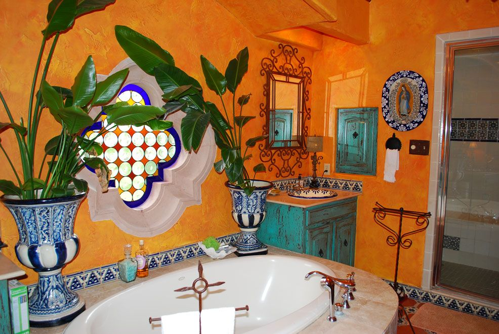 Saltillo Tile Stairs | Talavera Tile Photo Gallery | Clay Imports   The  Authentic Artisans