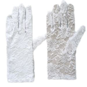 Play.com - Buy Womens Short 9 White Lace Gloves (White