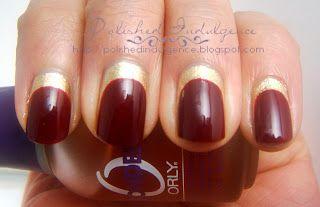 Polished Indulgence: Nail Art Wednesday: Red and Gold Ruffian Nails