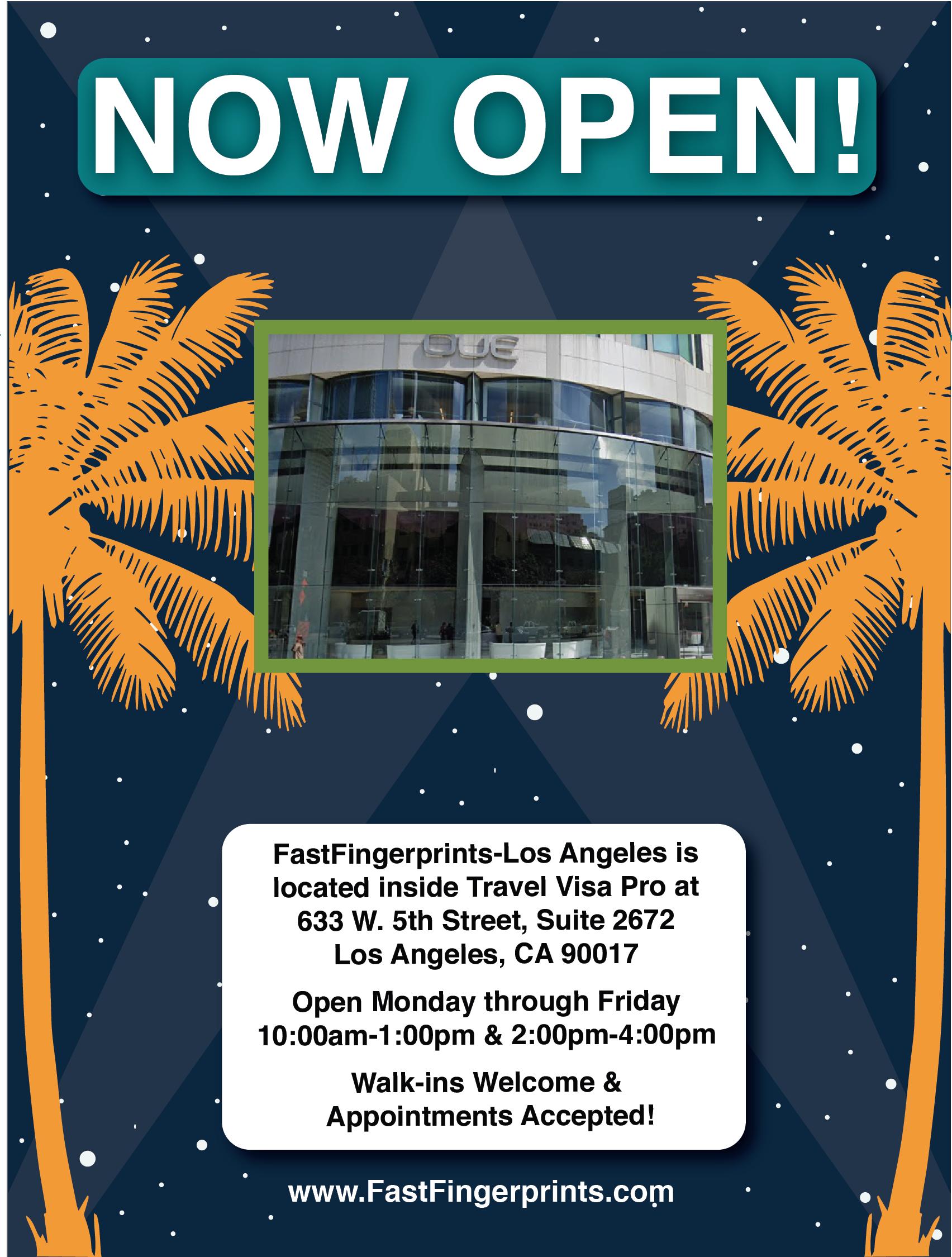 Now Open Fastfingerprints La Travel Visa Background Check Alabama Travel