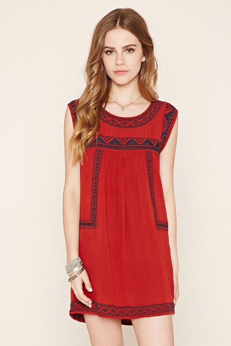 Tribal-Inspired Peasant Dress - Dresses - 2000205191 - Forever 21 EU ...