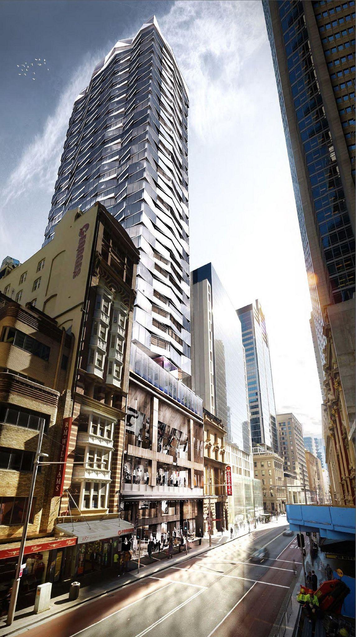 Latest Proposal for 379-383 George Street, Sydney CBD