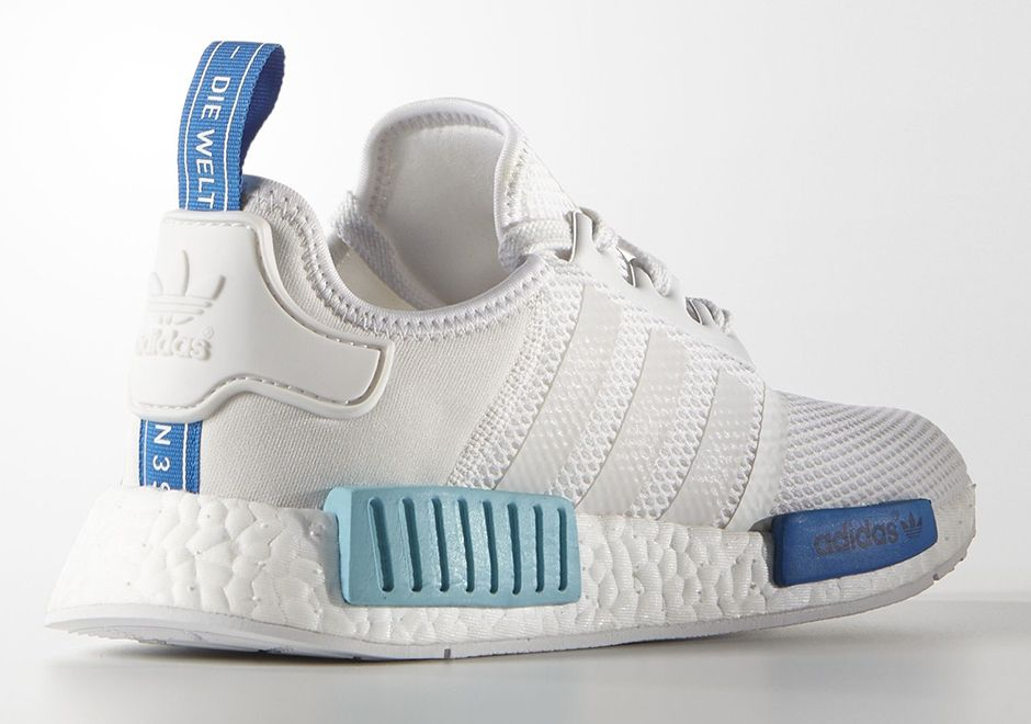 Adidas NMD R1 Shoe - 'White/Blue Glow