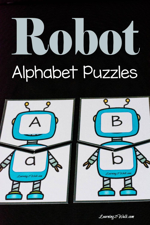 Adorable Robot Alphabet Puzzles Robots Preschool Alphabet Preschool Alphabet Puzzles [ 1500 x 1000 Pixel ]
