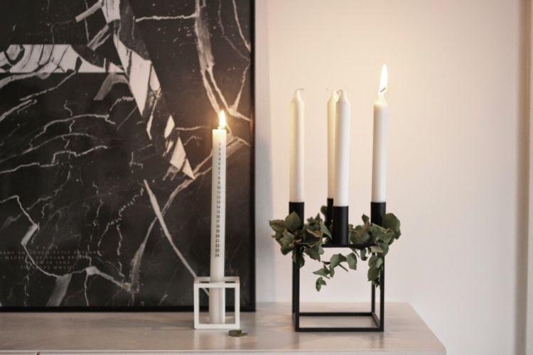 minimalistische weihnachtsdeko f r die adventszeit in schwarz wei christmas. Black Bedroom Furniture Sets. Home Design Ideas