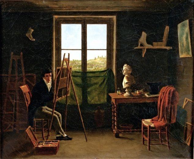 Léon Matthieu Cochereau (French, 1793–1817) The Artist in His Studio, ca. 1812–15 Oil on canvas; 19 x 23 5/8 in. (48.3 x 60 cm) Musée des Beaux Arts de Chartres