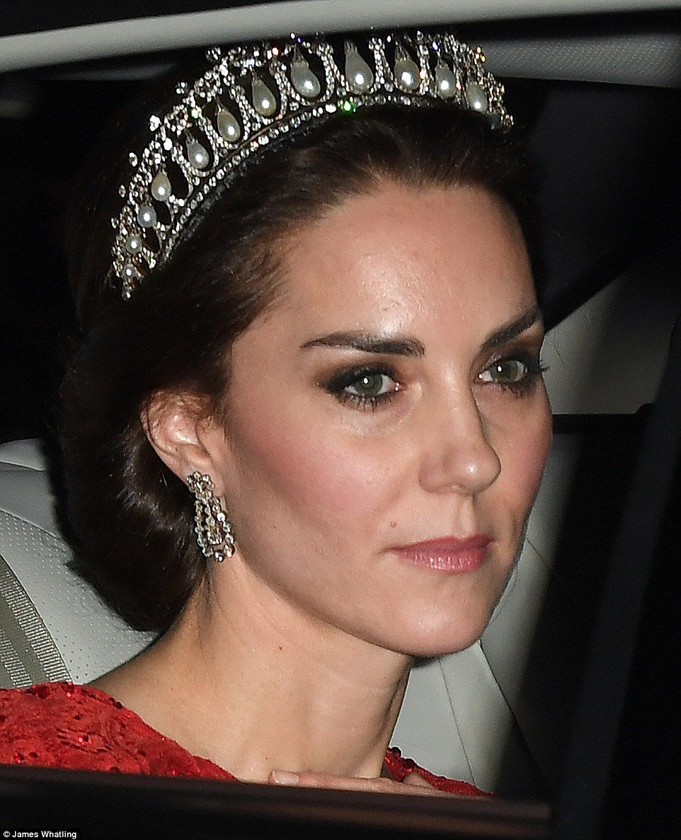 Kate Makes Rare Outing In Tiara At White Tie Diplomatic Reception