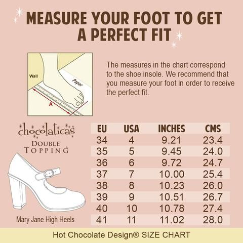 Available Soon To Order Through Our Boutique Heel Sizing Chart