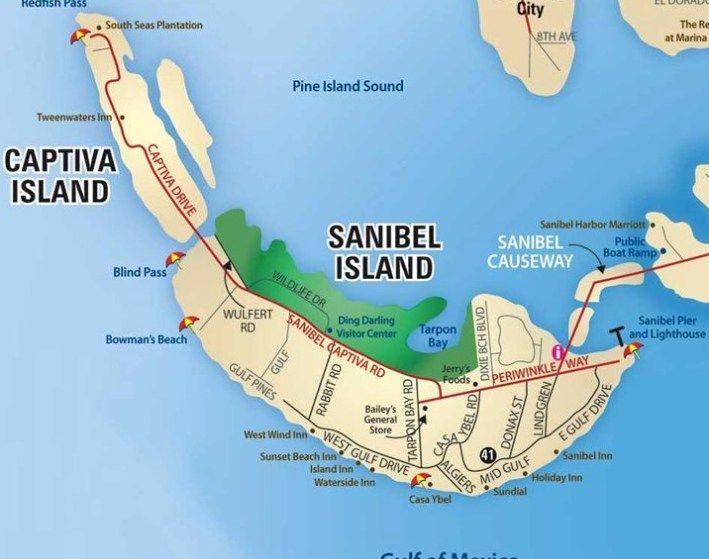 Where Is Sanibel Island In Florida Map.Sanibel Island Fl The World S Best Shelling Beaches Shells