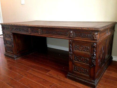 Medieval Antique One of A Kind European Executive Desk Hidden Drawers | eBay - Medieval Antique * One Of A Kind * European * Executive Desk