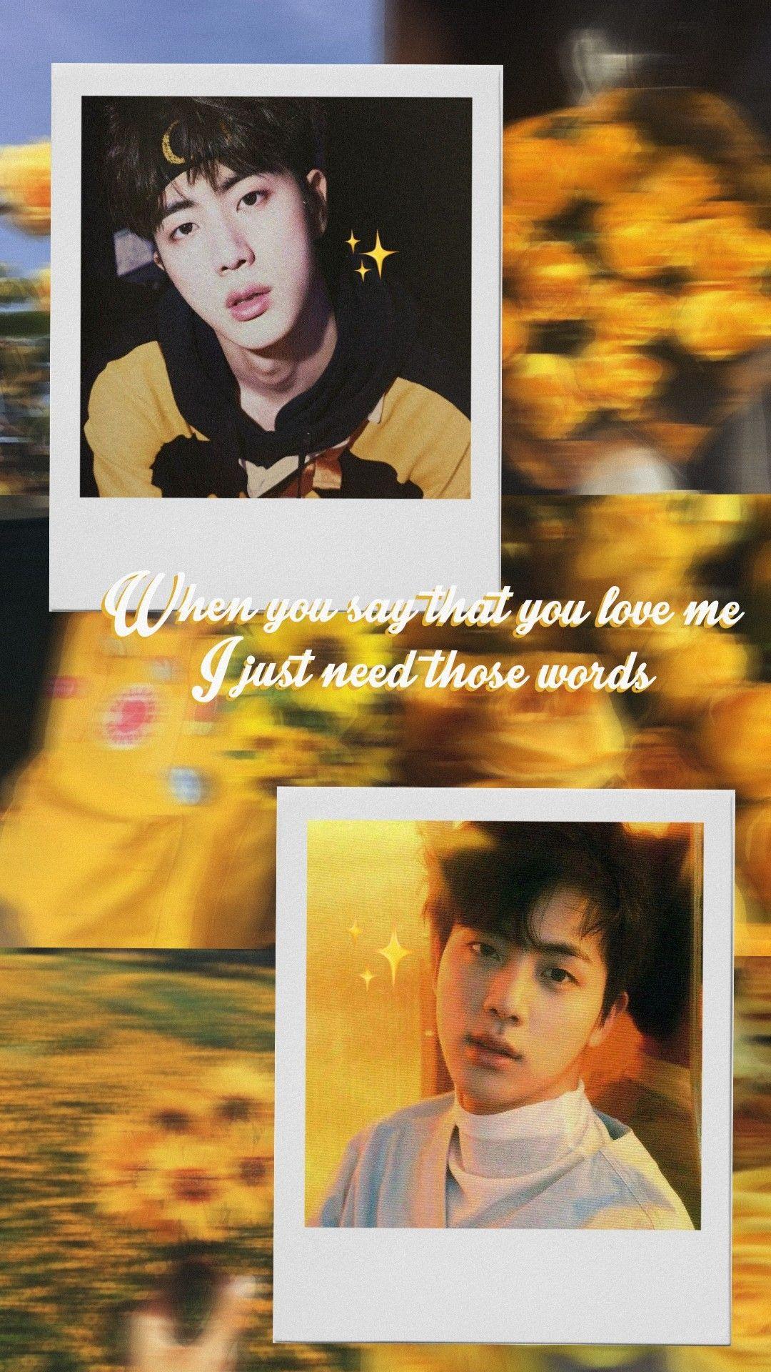 Seokjin Wallpaper Iphone Quotes Backgrounds Bts Wallpaper Tumblr Yellow