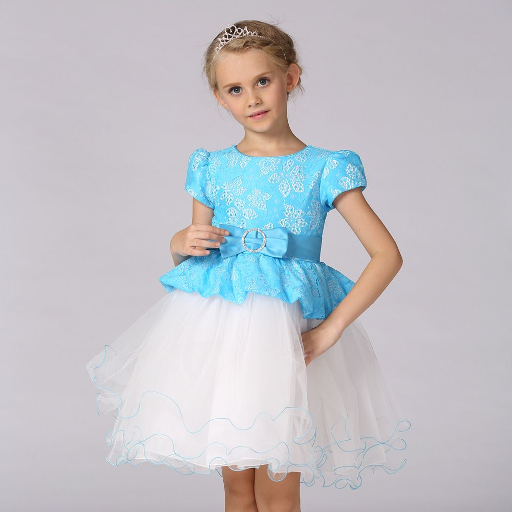 Click to Buy << Summer Princess Girls Tutu Dress Frock Designs tulle ...
