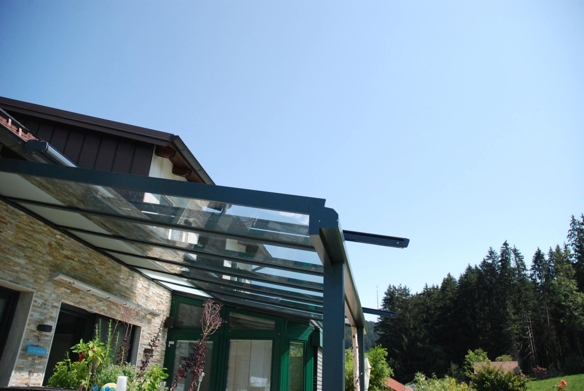 Terrassenüberdachung Alu und Glas Österreich   Preisbeispiele & Tipps